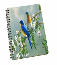 Floral & Birds Pattern A5 Notebook Diary Blank Paper Notepad Journal Notepad