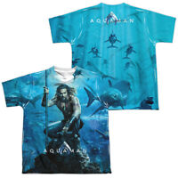 Authentic Aquaman Movie Poster YOUTH Sublimation ALLOVER Front Back T-shirt top