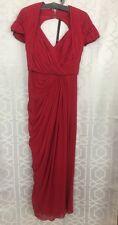 Elie Saab Gown Dark Rose Silk Chiffon Size 42 Belt