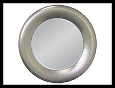 Redondo Espejo de Pared Plata 90cm diámetro Marcos Con facetteschliff Rendondo