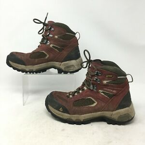 Vasque Breeze 2.0 Mid Gore Tex Hiking Boots Lace Up Nubuck Mesh Red Womens 8W