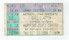 eric clapton ticket stub hartford civic center oct. 13, 1994