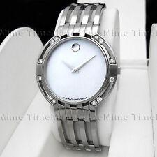 Men's Movado ESPERANZA Diamond White MOP Pearl Dial Stainless Steel Swiss Watch