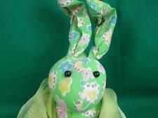 New Beanbag Spring Flower Green Easter Bunny Rabbit Plush Stuffed Animal Tags