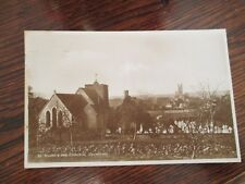 """VINTAGE RP POSTCARD, ST. MARTINS AND CATHEDRAL,  CANTERBURY KENT """" ."""