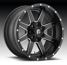 4 New 20x9 +20 Fuel D538 Maverick Black Milled 8x180 Wheels Rims
