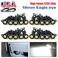20x White Eagle Eye 9W 18mm Motor Car Tail Brake Turn Signal LED Fog DRL Light