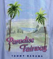Tommy Bahama Paradise Fairway-Fresh Air Golf 100% Silk Panel Back Shirt $158