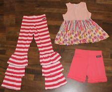Matilda Jane Sz 14 Outfit Lot Bennys Pants Shorties Shorts Coaster Tank Top Pink