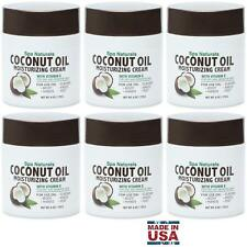6 Spa Naturals Coconut Oil Moisturizing Cream 6oz (170g) Vitamin E for Dry Skin