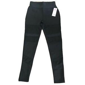 Popfit Leggings Size M Black Pop Fit 1334-1 Activewear Comfort Back Pockets Mesh