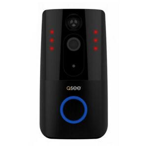 Q-SEE WiFi Smart Video Doorbell Security Camera 720P Resolution 2 Way Talk