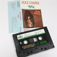 ALICE COOPER TRASH IMPORT CASSETTE TAPE ALBUM THOMSUN SAUDI 1989 ROCK
