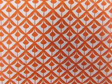 coton imprimé  coupon de tissu  dessin moderne orange    3. m