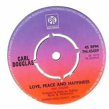 "Carl Douglas - Love, Peace And Happiness - 7"" Vinyl Record Single"