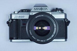 Konica Minolta X-500 35mm SLR Film Camera and lens.