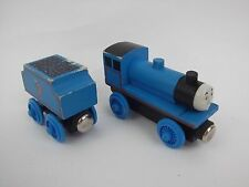VTG Thomas The Train Engine Wooden Edward + Tender Car Staples vintage HTF lo6