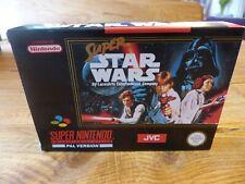 Super Star Wars SNES NINTENDO Collector's condición en caja y COMPLETO PAL Reino Unido