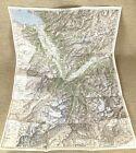 1931 Antique Map of Switzerland Saint Maurice Valais Swiss Canton Sion Martigny