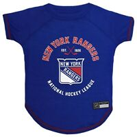 New York Rangers Officially Licensed NHL Dog Pet Tee Shirt, Blue Sizes XS-L