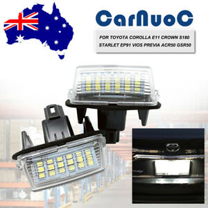 For Toyota Corolla Camry Vios White Auto Led License Number Plate Lights Lamps