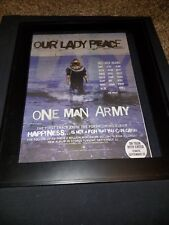 Our Lady Peace One Man Army Rare Original Radio Promo Poster Ad Framed!