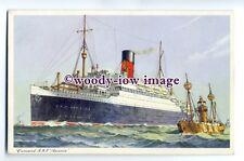 LS0212 - Cunard Liner - Ascania passing the Bar Lightship - art postcard