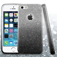 Apple iPhone 5 5s SE Glitter Bling Hybrid Rubber Silicone Hard Case Cover + Kit