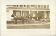 Unidentified Horse Drawn Stagecoach & Driver c1910 Real Photo Postcard