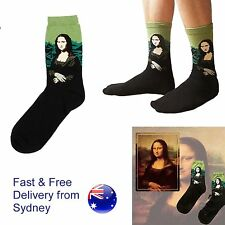 Art socks - Mona Lisa painting - Leonardo da Vinci - Louvre Paris French France