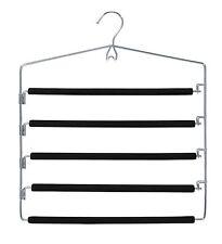 Closet Spice Chrome 5 Tier Pant Trouser Hanger-Set of 2, Swinging Arm Slack Rack