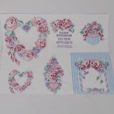 "Daisy Kingdom No Sew Applique Printed Fabric 17 5/8"" x 14"" Rose Pattern"