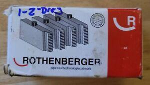 """ROTHENBERGER 00028 NPT Pipe Dies Set 1"""" - 2"""" Set Pack of 4 NIB NEW"""