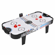 """42""""Air Powered Hockey Table Game Room Home Sport Electronic Scoring 2 Pushers"""