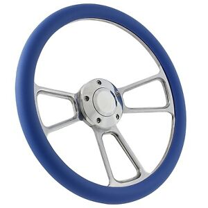 "58-63.5 All Ford (excl. T-Bird, Falcon, Comet) Steering Wheel Kit 14"" Polishe..."