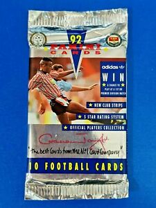 Panini Official 92 1992 1 x Pack of 10 Sealed Football Cards NS2