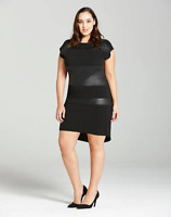 ELVI Reptile Print Black Mini Shift Dress UK Size 16 - New LBD with Tags