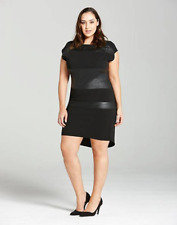 ELVI Reptile Print Black Mini Shift Dress UK Size 18 - New LBD with Tags