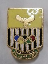 Zambia 1984 Very Rare Olympic Team Noc Badge Pin. Yellow!