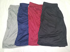 Big and Tall Athletic Active-wear Shorts-Solid Navy, Black, Gray, or Burgundy!