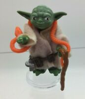 Vintage Star Wars Yoda With Repro Cane Snake 1980