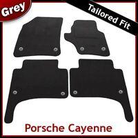 Porsche Cayenne Mk1 2002-2010 Round Clips Tailored Carpet Car Floor Mats GREY