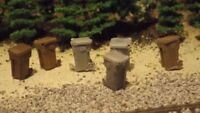H-O-Scale 12 Unfinished Garbage Cans  Model Train Detail Accessories