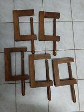 5 Sehr alte Schraubzwingen-Holzzwingen um ca 1930-50