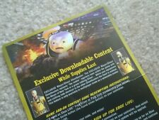 """Ghostbusters Video Game """"Mayor/Ghoul"""" VOUCHER CARD+download code, Xbox 360/One/X"""