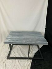 Refinished Coffee table grey washed real wood and metal24 x 20 x 36 inches