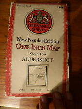ORDNANCE SURVEY NEW POPULAR EDITION ALDERSHOT CLOTH SHEET 169 VINTAGE 1945