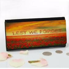 Personalised Poppy Field Remembrance Ladies Money Coin Purse Mum Gift SH194
