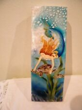 Mermaid/Turtle Airbrushed Capiz Shell Box fromWindowpane Oyster md Philippines