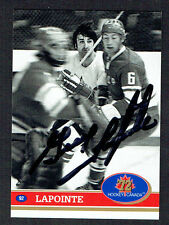 Guy Lapointe signed autograph auto 1972 Hockey Canada Card 1991 Future Trends